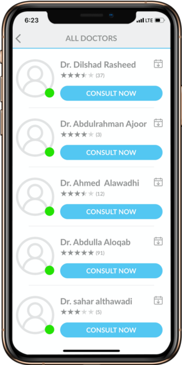 Choose from a list of highly qualified medical practitioners