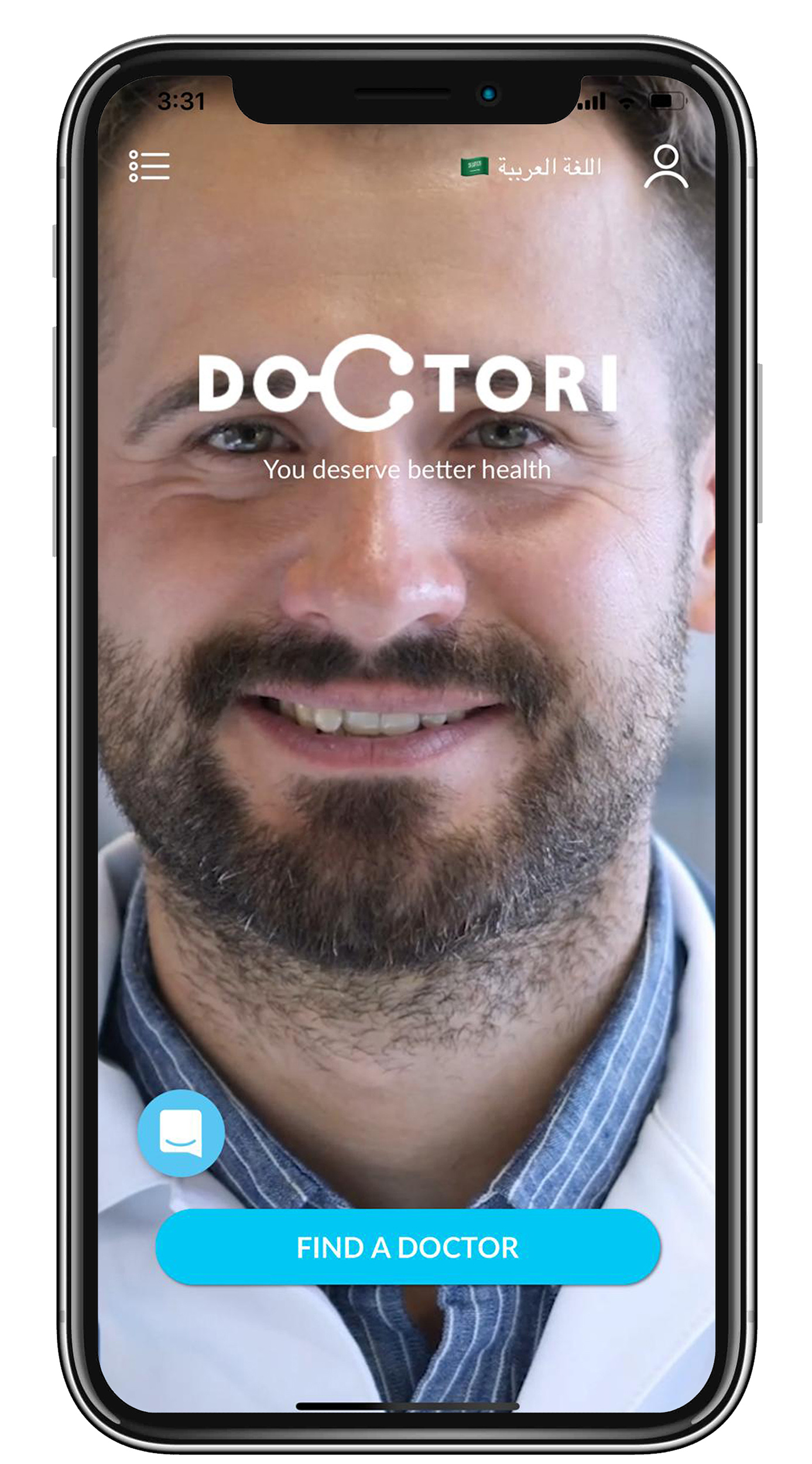 Find doctors button will list all doctors. Top right button in your profile. Top left button is your consultation history reports.